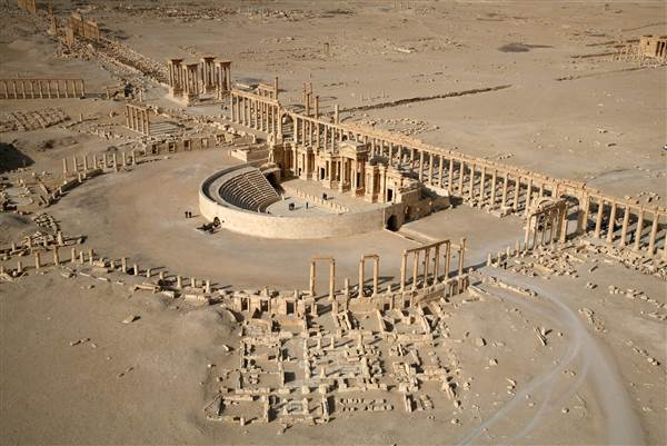 Part of the ancient city of Palmyra in 2009. CHRISTOPHE CHARON / AFP - Getty Images file