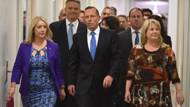 Mr Turnbull had said if Mr Abbott remained as leader, the coalition government would lose the next election