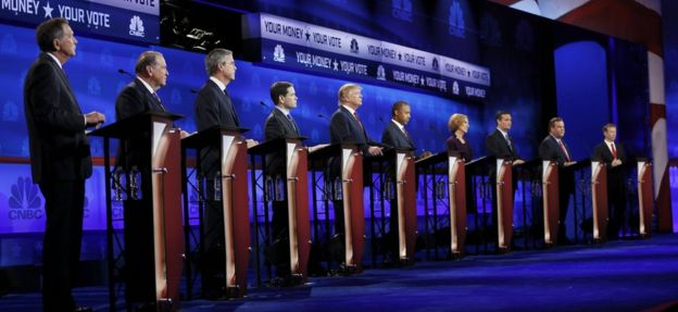 Republicans gather for 4th debate amid volatile polls, tempers