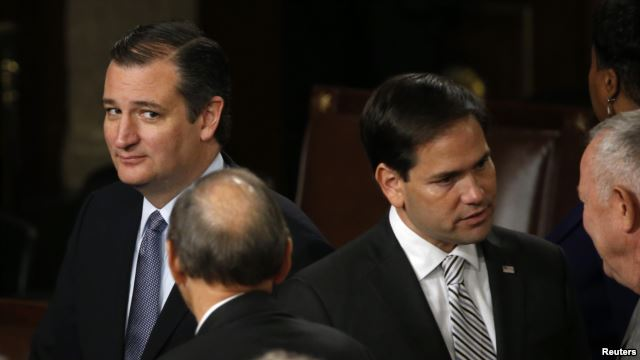 Republicans gather for 4th debate amid volatile polls, tempers - Ted - Rubio (Photo Reuters)