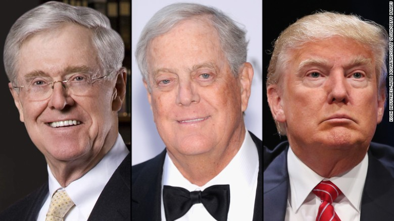 Koch brother Trump plan would destroy free society