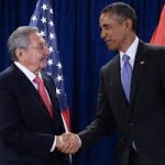 Obama meets with Raúl Castro (photo - latinpost.com)