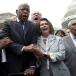 Singing chanting in US House for gun law