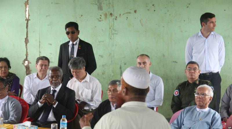 Kofi Annan meets Muslims and Buddhists Myanmar