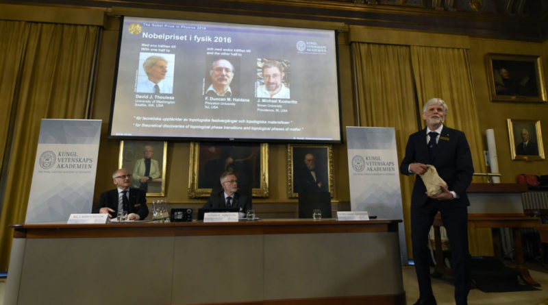Nobel Prize for Physics announced