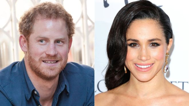 Prince Harry and his girlfriend Markle
