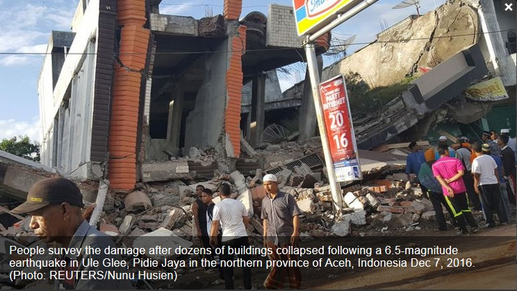 Magnitude 6.5 earthquake hits Indonesia