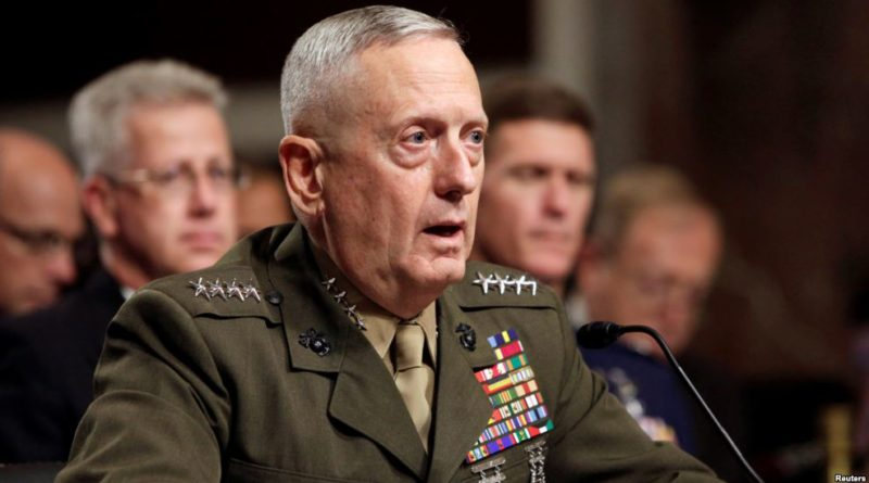 Trump names James Mattis for secretary of defense