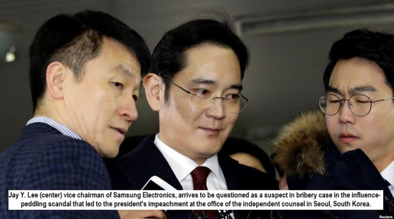 Samsung chief arrested for alleged role in corruption scandal