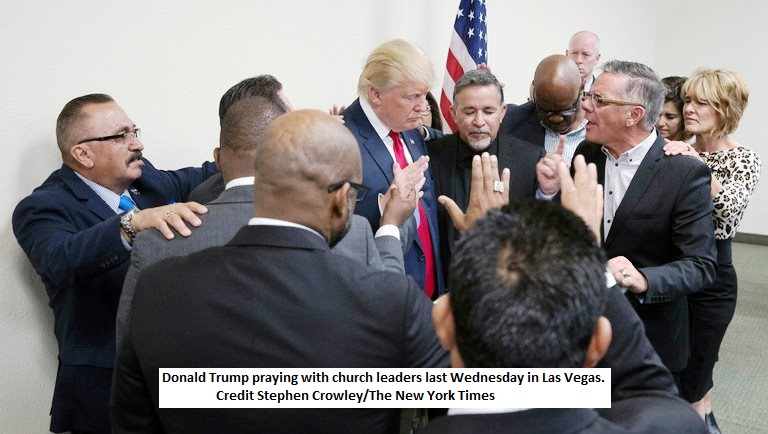 Evangelical Leaders Praying for Trump