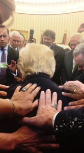 Trump's WH has evangelicals 'on speed dial,' says activist who prayed over president