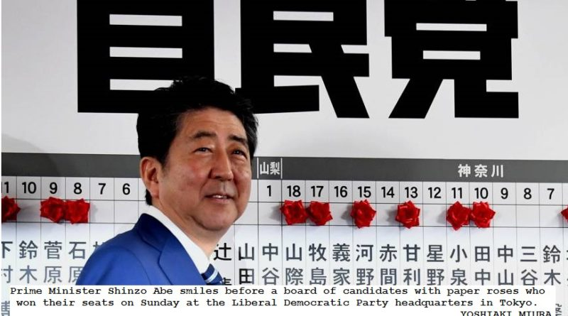 Abe's coalition won majority in Japan