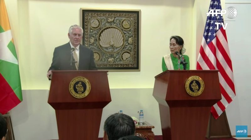 Tillerson in Myanmar on mission to resolve Bengali crisis