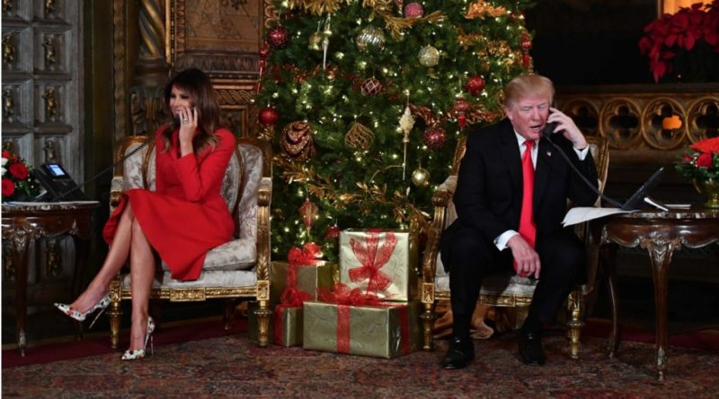 Trump celebrates Christmas like most people with family