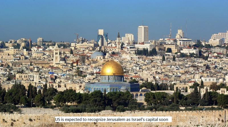 US to recognize Jerusalem as Israel's capital
