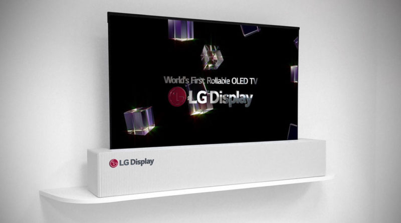 65 inch rolls up TV from LG