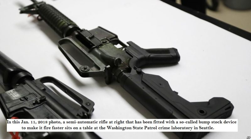 Gun bump stock banned in some US States